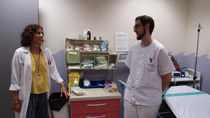 Los niños con autismo conocen el hospital Santa Bárbara de Puertollano