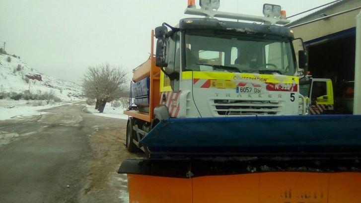 Activadas las alertas en Castilla-La Mancha por nieve y recomendación de no salir a las carreteras