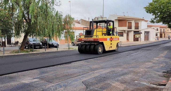 Una veintena de calles de Villarrobledo son reasfaltadas con una inversión de 120.000 euros de Ayuntamiento y Diputación