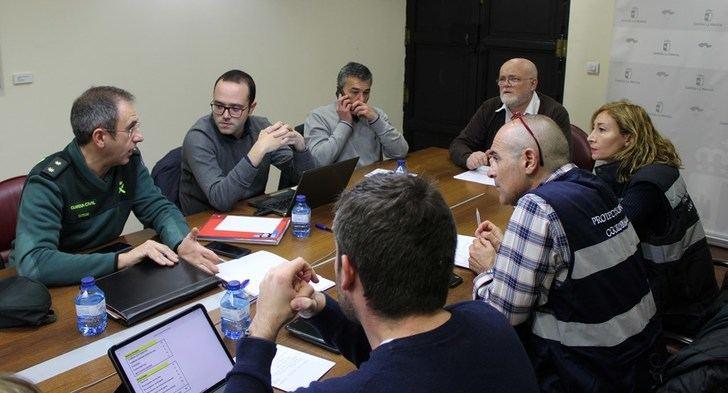 Reunión en Albacete para tener todo previsto tras la activación del METEOCAM por el aviso rojo por nevadas