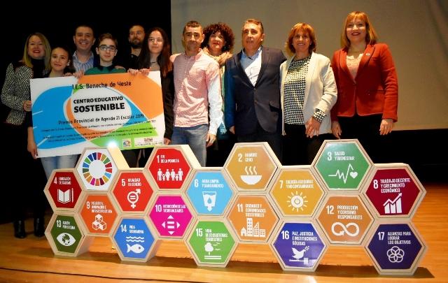 El I.E.S. Beneche de Yeste recibe el VIII Premio Agenda 21 Escolar-Horizonte 2030 de la Diputación de Albacete