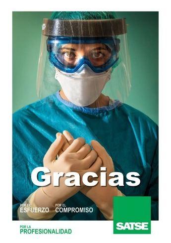 SATSE inicia una campaña en C-LM para agradecer el trabajo de enfermeras y fisioterapeutas frente a la COVID-19