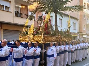 La Semana Santa de Albacete celebró la procesión de las Palmas