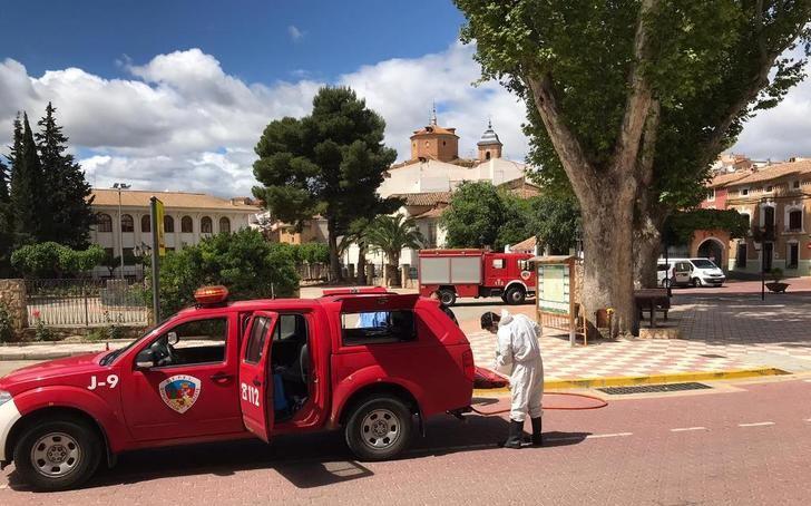 400 salidas de los bomberos del SEPEI de Albacete para tareas de desinfección en la provincia
