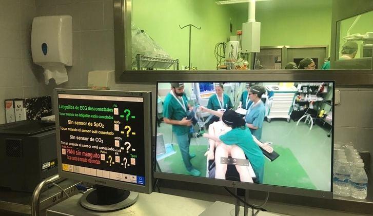 Curso de simulación de anestesia para los residentes del hospital de Albacete