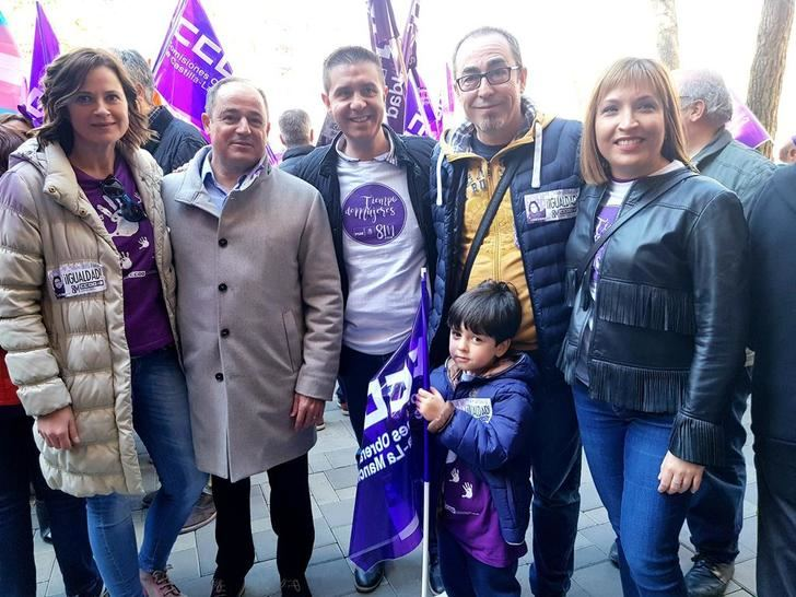 El PSOE de Albacete se sumó a la concentración con motivo del Día Internacional de la Mujer