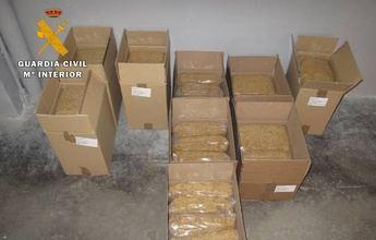 La Guardia Civil de Albacete incauta 40 kilos de tabaco de contrabando en Caudete (Albacete)
