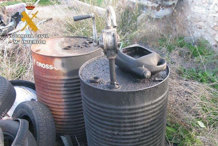 Localizado y clausurado un taller mecánico clandestino en la pedanía de Agramón, en Hellín (Albacete)