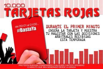 La afición del Albacete Balompié protestará contra los árbitros con 10.000 tarjetas rojas