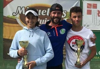 Sergio Monte y Blanca Cortijo son los nuevos campeones regionales de tenis de Castilla-La Mancha