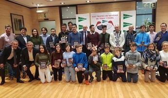 Álvaro Moreno y Ana Lerma fueron los ganadores absolutos del Trofeo de Navidad de tenis de Albacete