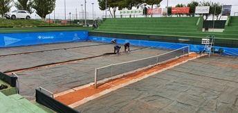 La lluvia se 'invita' a la jornada de cuartos de final del Ciudad de Albacete de tenis