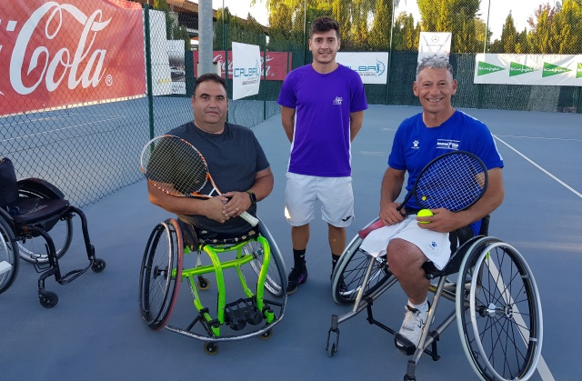 Arturo Montes y Francesc Prat lograron llegar a las semifinales del Ciudad de Albacete de tenis en silla de ruedas