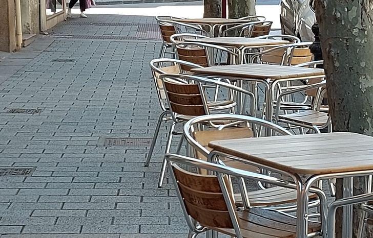 Una terraza en Albacete los primeros días de desescalada.