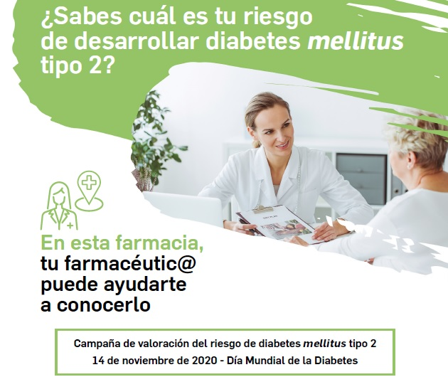 Una encuesta en farmacias permitirá conocer el riesgo de padecer diabetes mellitustipo 2 de los españoles