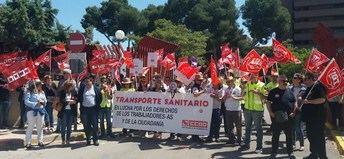 Segunda jornada de paros de los trabajadores de transporte sanitario en Castilla-La Mancha