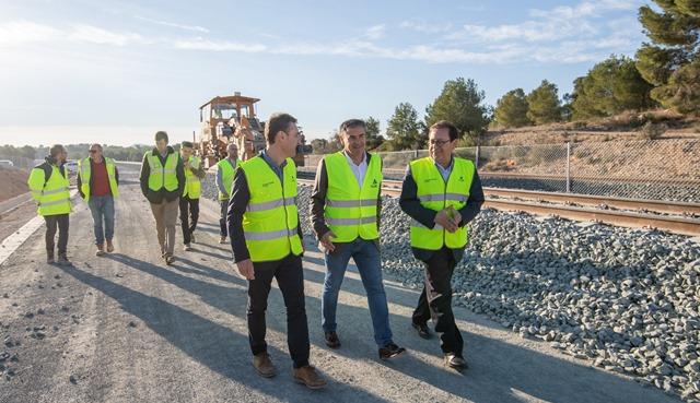 Los políticos ya visitaron las obras que se estaban desarrollando.