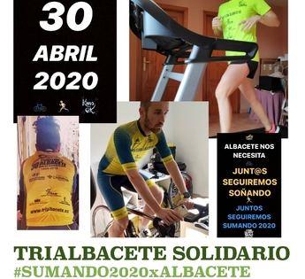 La Diputación de Albacete anima a participar en el triatlón solidario a beneficio del Banco de Alimentos