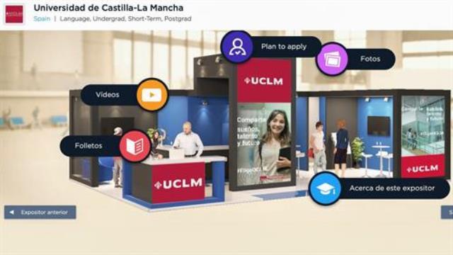 La UCLM expone su oferta académica y de servicios en la feria virtual 'Estudiar en España'