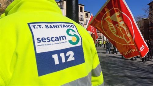 UGT se descuelga de la huelga en ambulancias de C-LM que prepara CCOO al discrepar de las condiciones planteadas