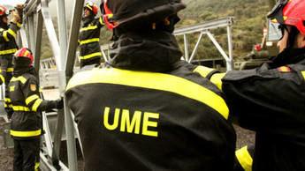 Militares de la UME y paracaidistas realizan tareas de desinfección en Albacete y Hellín