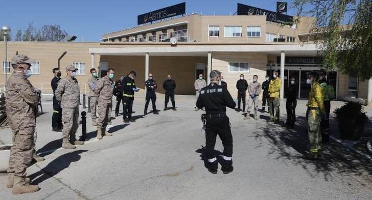 Efectivos de la UME forman a trabajadores de Geacam y bomberos del Sepei Albacete