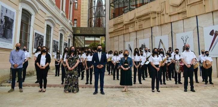 La Diputación de Albacete celebra el Día Europeo de la Música la Unión Musical Santa Cecilia de Hellín