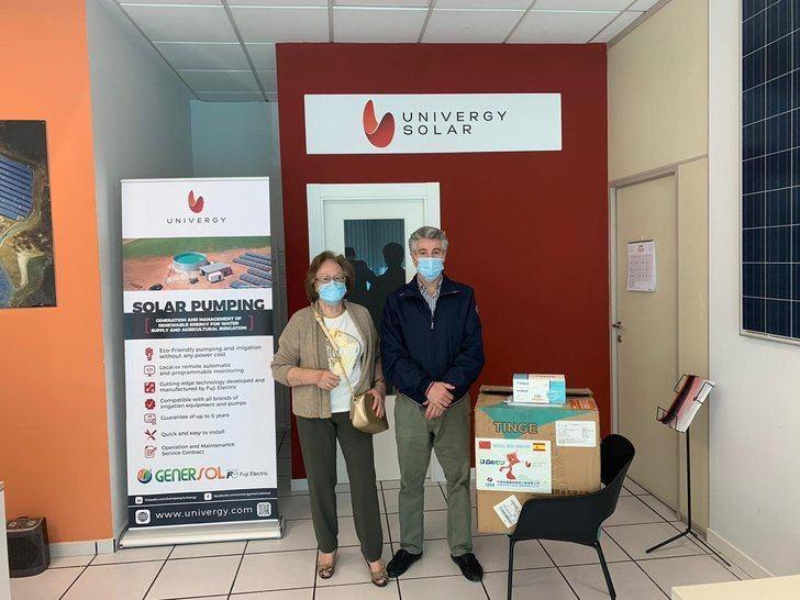 Univergy Solar dona 12.000 mascarillas para la lucha contra el COVID-19, algunas para el Perpetuo Socorro de Albacete