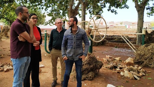 La Diputación de Albacete trabajará en recuperar las zonas dañadas por la 'gota fría' en Ossa de Montiel