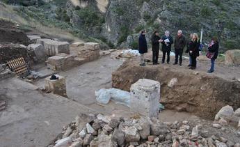 La Junta estudia la declaración como parque arqueológico del Yacimiento Romano de Valeria (Cuenca)