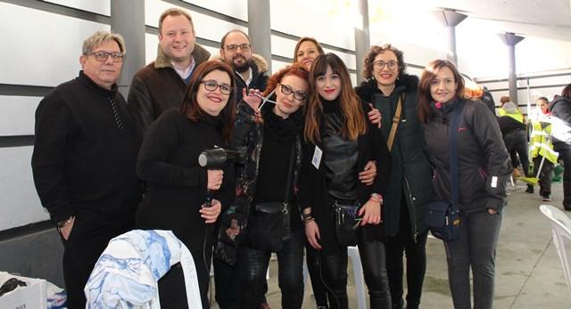 Corte solidario a favor de AEPMI de los peluqueros de Albacete