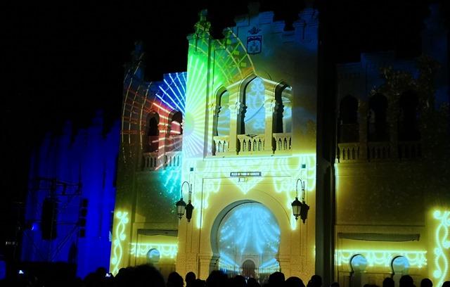 El vídeo-mapping de los 40 años de la Constitución, imagen diferente de la Feria de Albacete