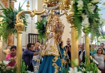 La lluvia no impidió el traslado de la Virgen de Cortes desde su santuario a Alcaraz