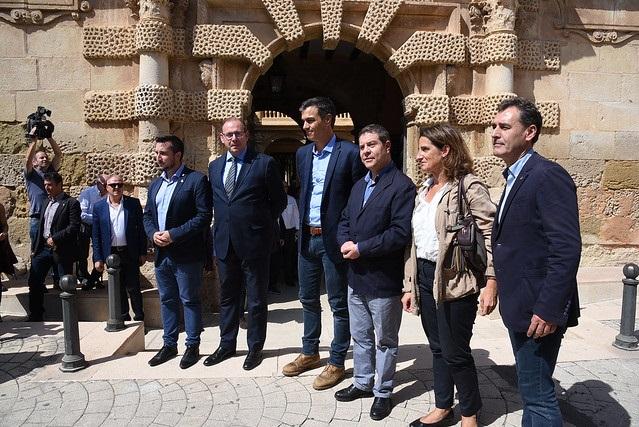 Pedro Sánchez y Page visitan las zonas afectadas por la gota fría en la provincia de Albacete