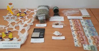 Detenido un joven de 24 años vecino de Yeste (Albacete) que se dedicaba a la venta de drogas en la comarca