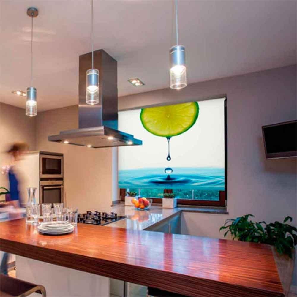 Estores enrollables cocina maravilloso cortinas de cocina y estores estilos decorativos with - Cortinas cocina aki ...
